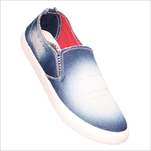 Mens Canvas Denim Loafer