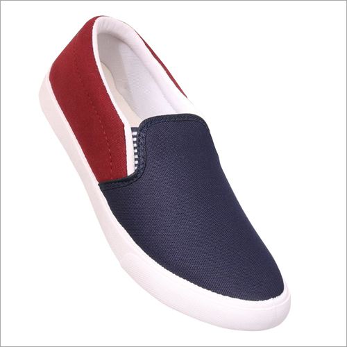 Mens Blue And Red Loafer