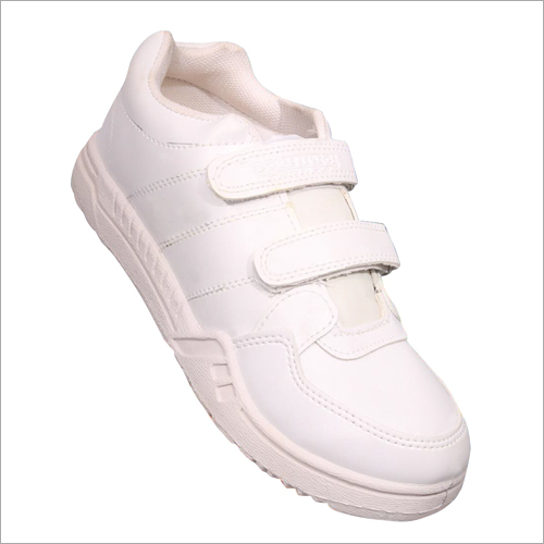 Velcro White Shoes