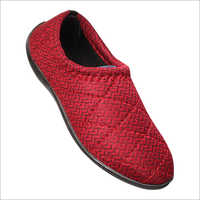 Ladies Red Slip On Shoes