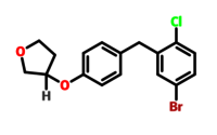 Empagliflozin intermediate derivative (3s)-3-[4-[(5-bromo-2- chlorophenyl)methyl]phenoxy]tetrahydro-furan 915095-89-5