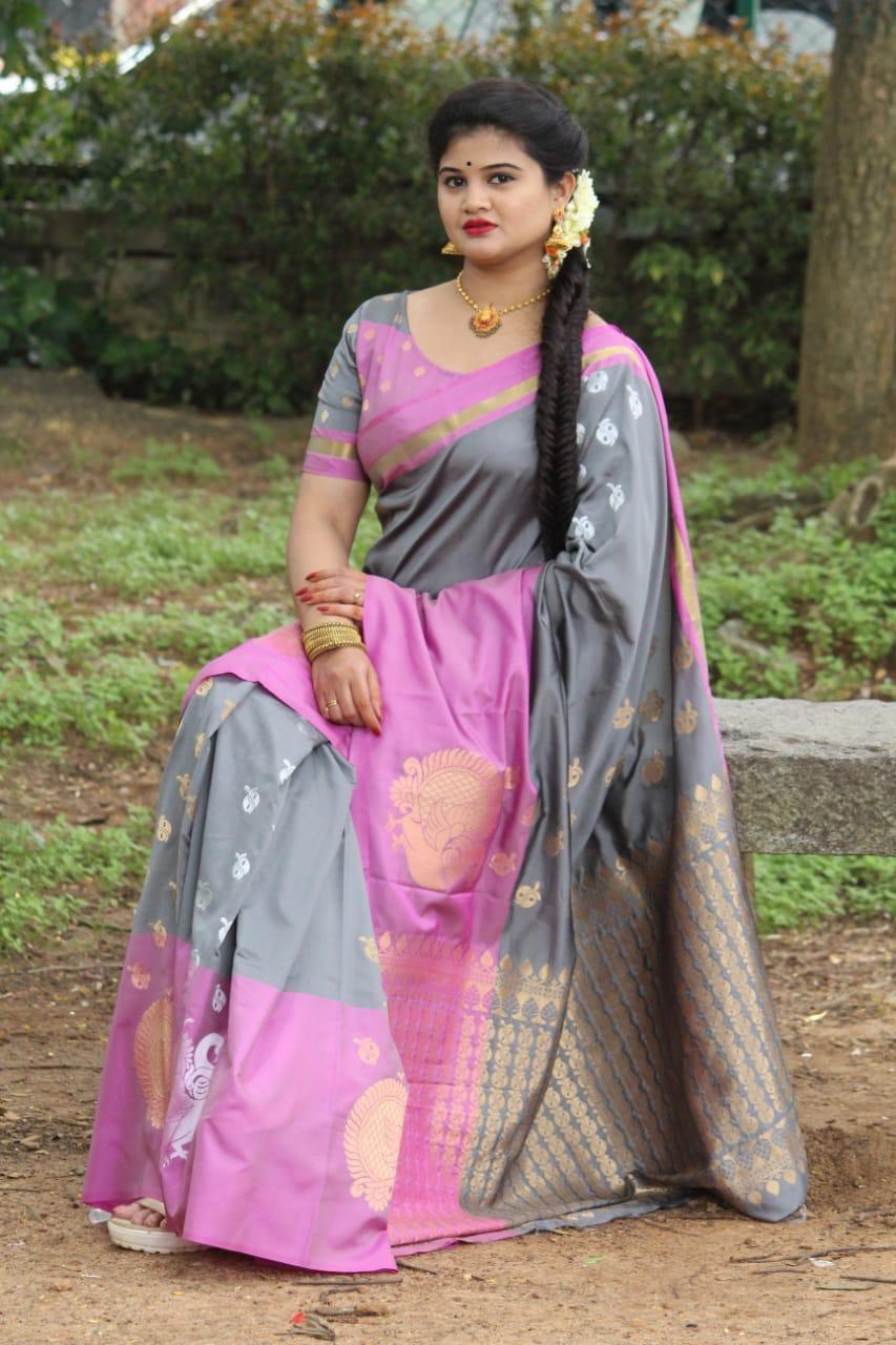 Indian Kanchipuram Silk Saree