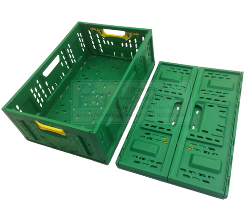 Foldable Plastic Mesh Crate Collapsible Crate for Fruit and Vegetables 600X400X220mm