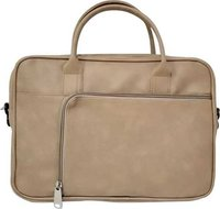 Rexin cream office bag