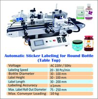 Automatic Table Top Sticker Labeling