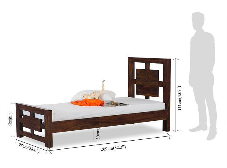 Solid wood single bed Novice
