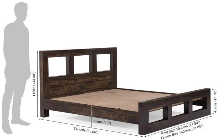 Solid wooden bed Prome