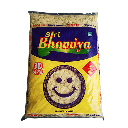 3D Badminton Shape Papad
