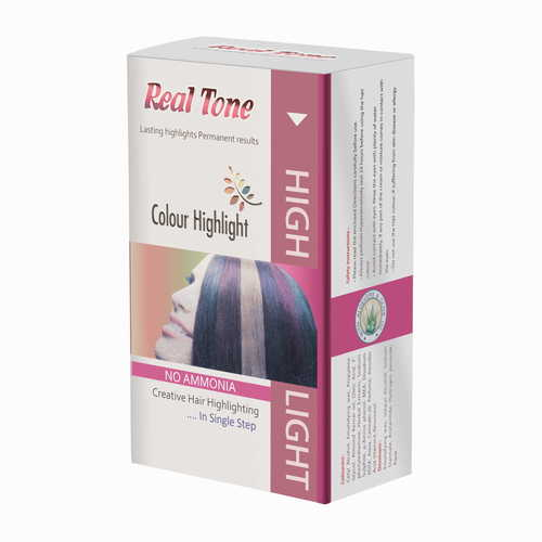 Real Tone Hair Color Highlights