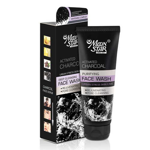 Moon Star Activated Charcoal Face Wash