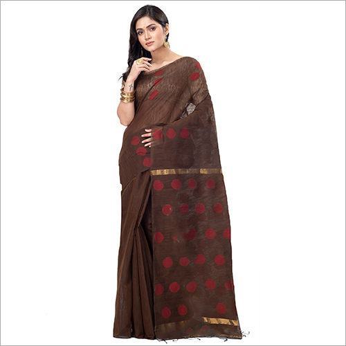Ladies Fancy Blended Cotton Saree