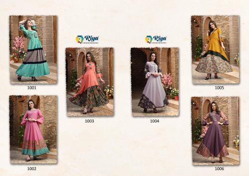 Rayon Long Anarkali Gown