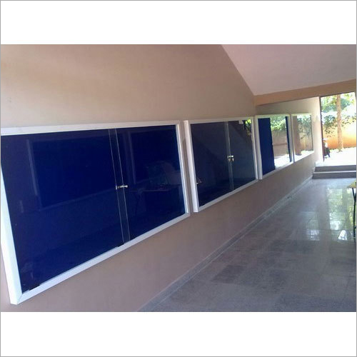 Sliding Glass Cover Display Board