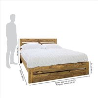 Solid wooden bed with Double Trolly