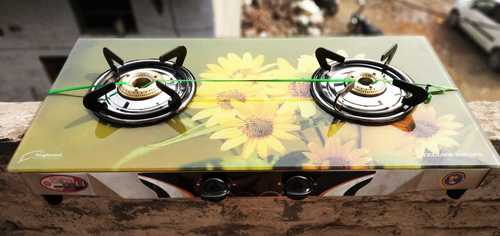 Two Burner Glass top gas stove