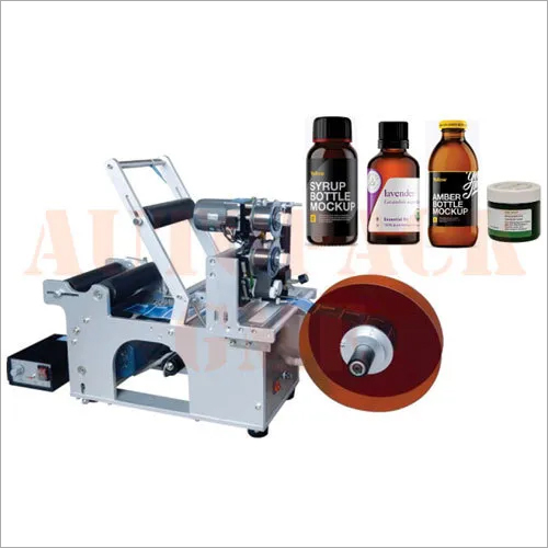 Semi Automatic Sticker Labeling For Round Bottle