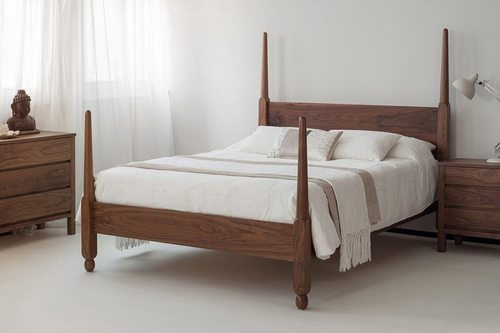 Solid wood bed cinderella