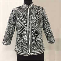 All Over Black & White Emb Jacket