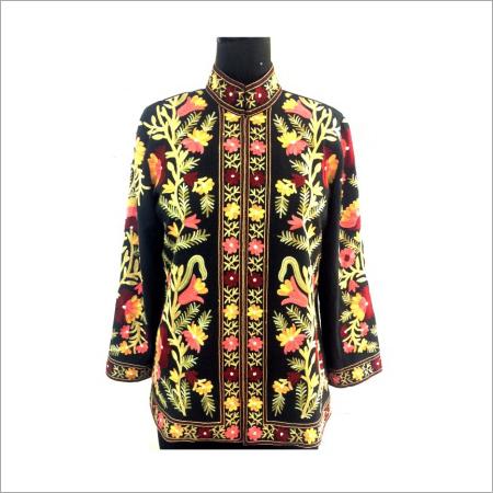 Black Floral Emb Jacket