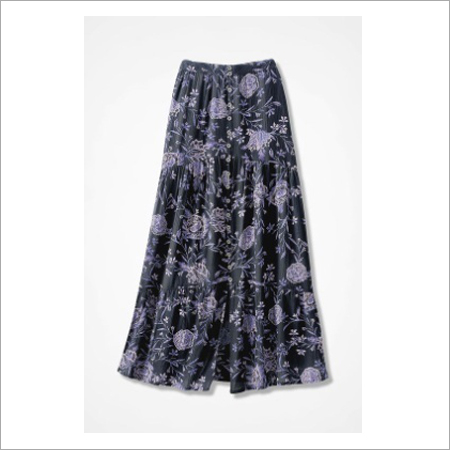 SHADOW IN BLOOM CRINKLE MAXI SKIRT