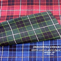 Brushing Check Shirting Fabric