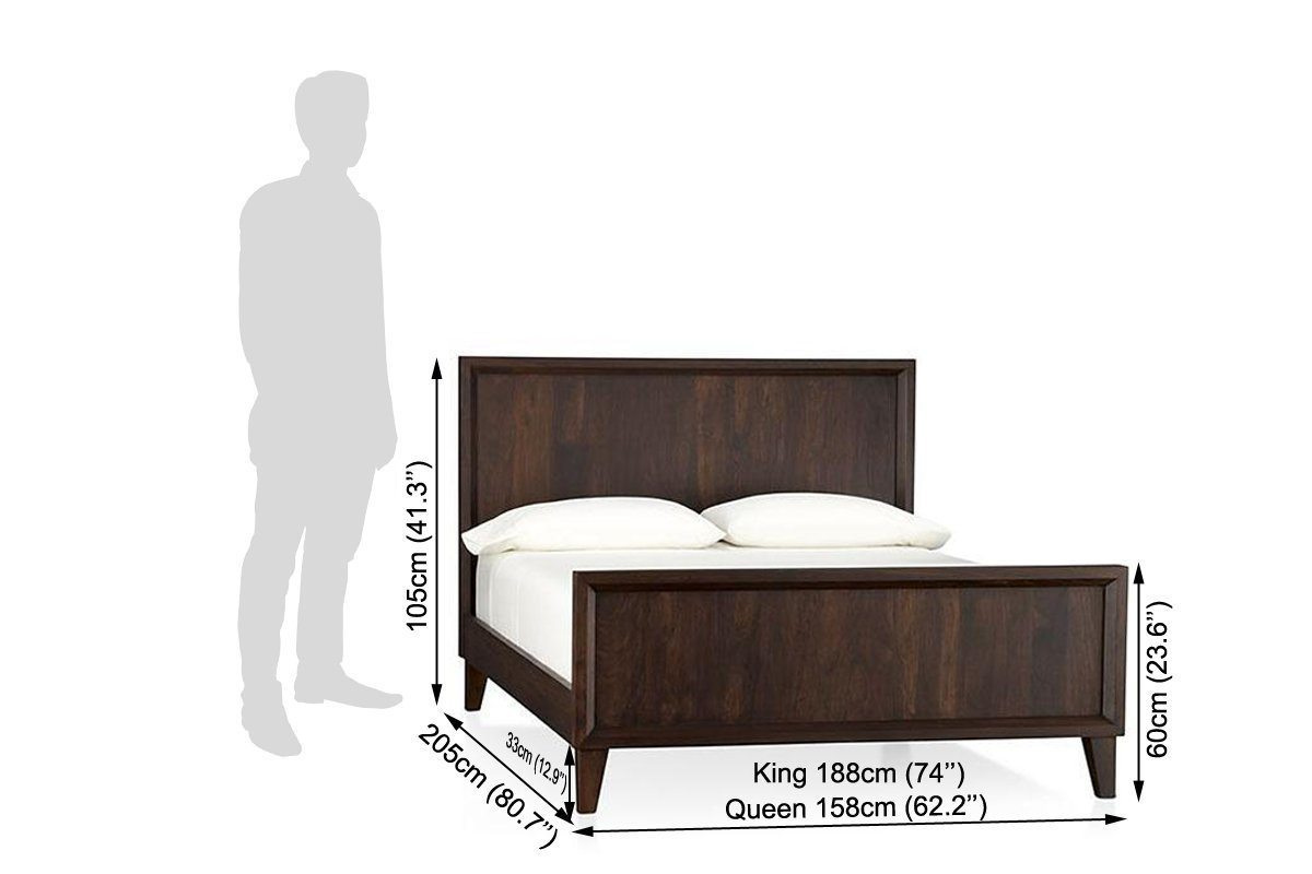 Solid wood bed Standard