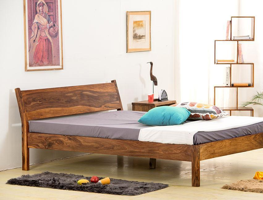 Solid wooden Bed Homely