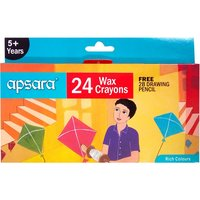 Apsara Wax Crayons 24 Colours
