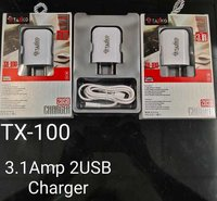 Tx-100 Double Usb With Cable Charger