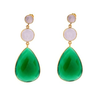 925 Sterling Silver Dangle Hanging Various Colours Beautiful Womens Earring
