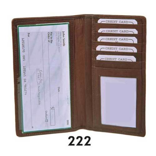 genuine leather cheque holder