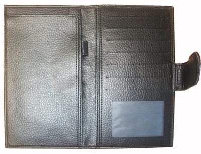 genuine leather cheque holder