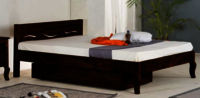 Solid wooden bed Waiver single trolly