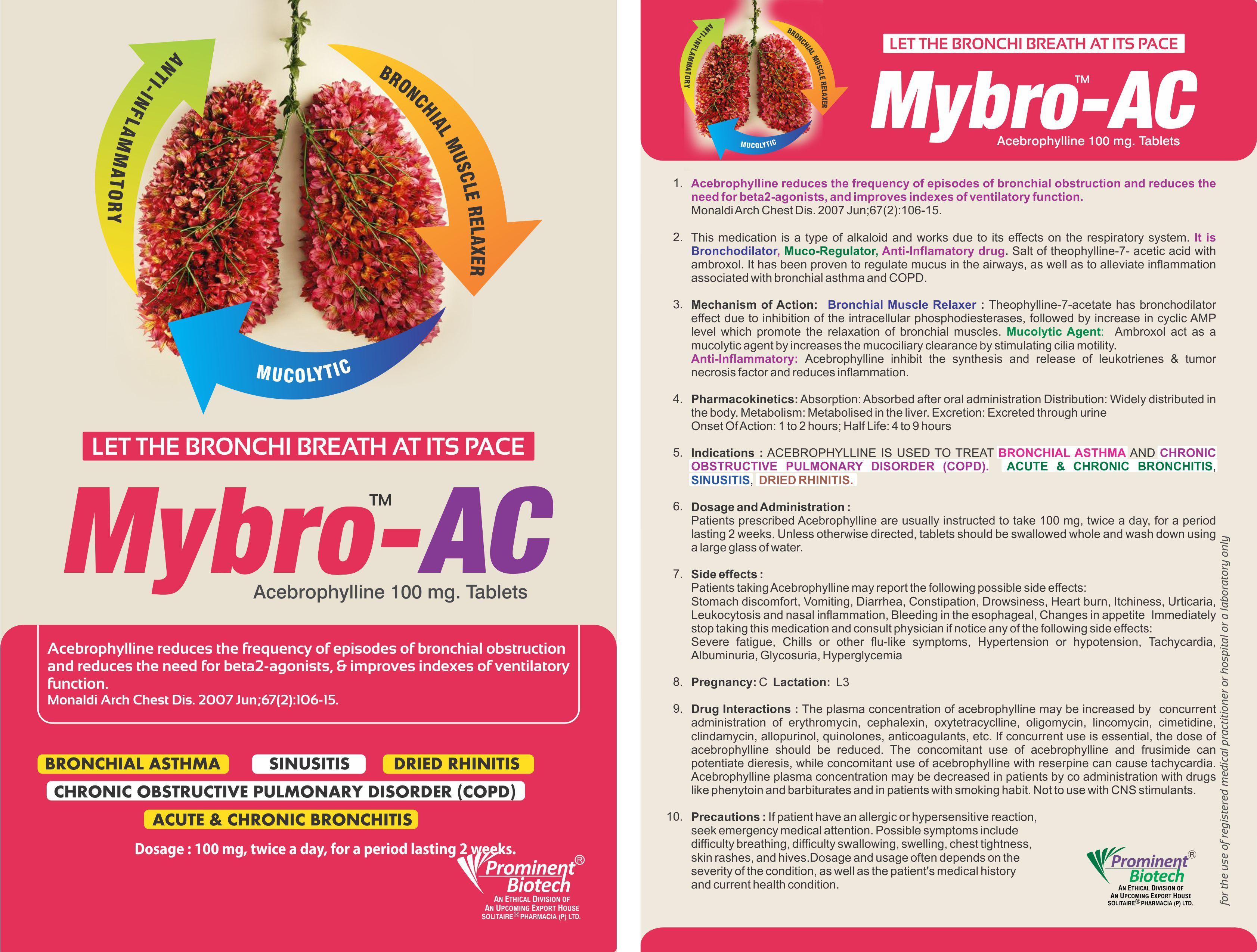 Acebrophylline 100 Mg Tablets