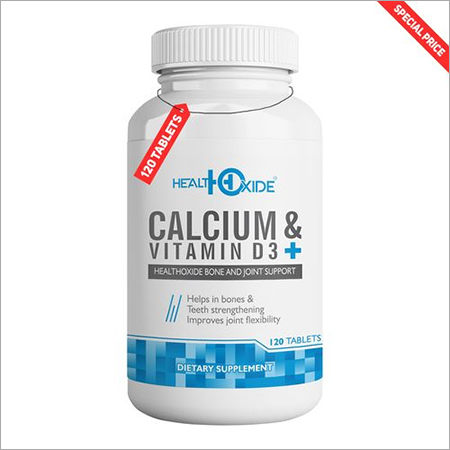 HealthOxide Calcium 625 mg + Vitamin D3 400 IU for Bone Health provides easily Absorbed Calcium – 120 Tablets