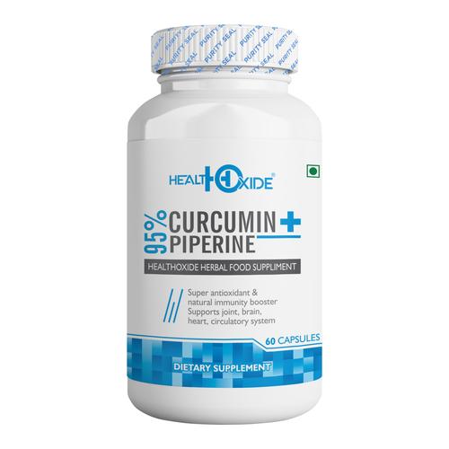 HealthOxide Curcumin 95% + Piperine 95% - 60 Veg capsules