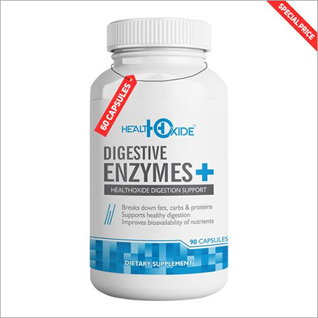 HealthOxide Digestive Enzymes plus - Natural Support for Better Digestion - For Bloating, Constipation & Gas Relief - 90 Veg Capsules