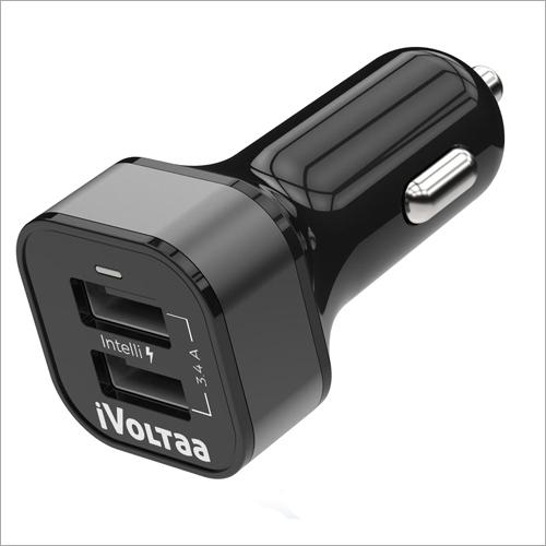 iVoltaa 3.4A Dual Port Car Type-C Charger