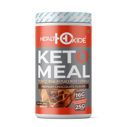 Health Oxide Ketogenic Diet - Perfect Meal Replacement Shakes for Good Health 420 g (Chocolate)