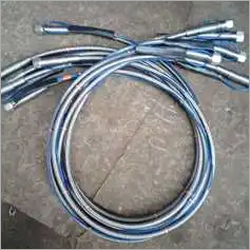 Ptfe hose with safety rope