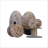 Wooden Cable Drum Roller