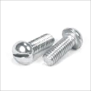 SS Slotted Round Screw