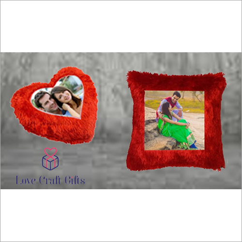 Sublimation Red Fur Pillow Printing Service