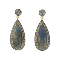 Moonstone Hot Handmade Beautiful 925 Sterling Silver Gold Plated Black Oxidized Earring
