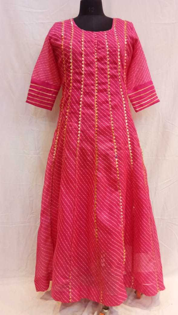 Kota Doriya Lehriya Anarkali Gown