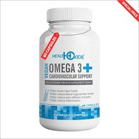 HealthOxide Omega 3 with 6, 9 and DHA – Flaxseed Cardiovascular Heart Health support – 60 Veg Capsules