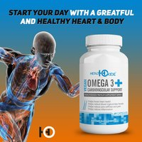 Health Oxide Omega 3 with 6, 9 and DHA Flaxseed Cardiovascular Heart Health support  60 Veg Capsules