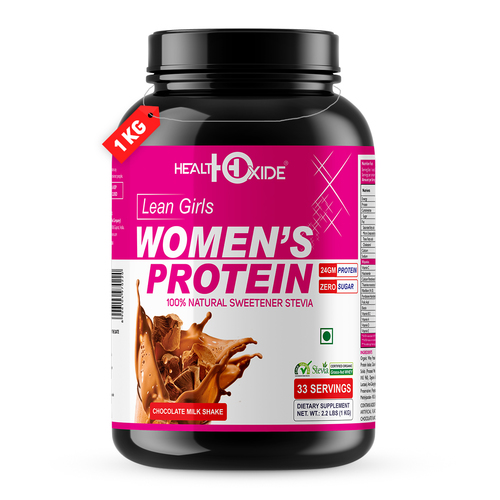 Health Oxide Womens Protein with 100% Natural Sweetener Stevia1 kg (Milk Chocolate)