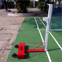Movable Metal Badminton Pole Post