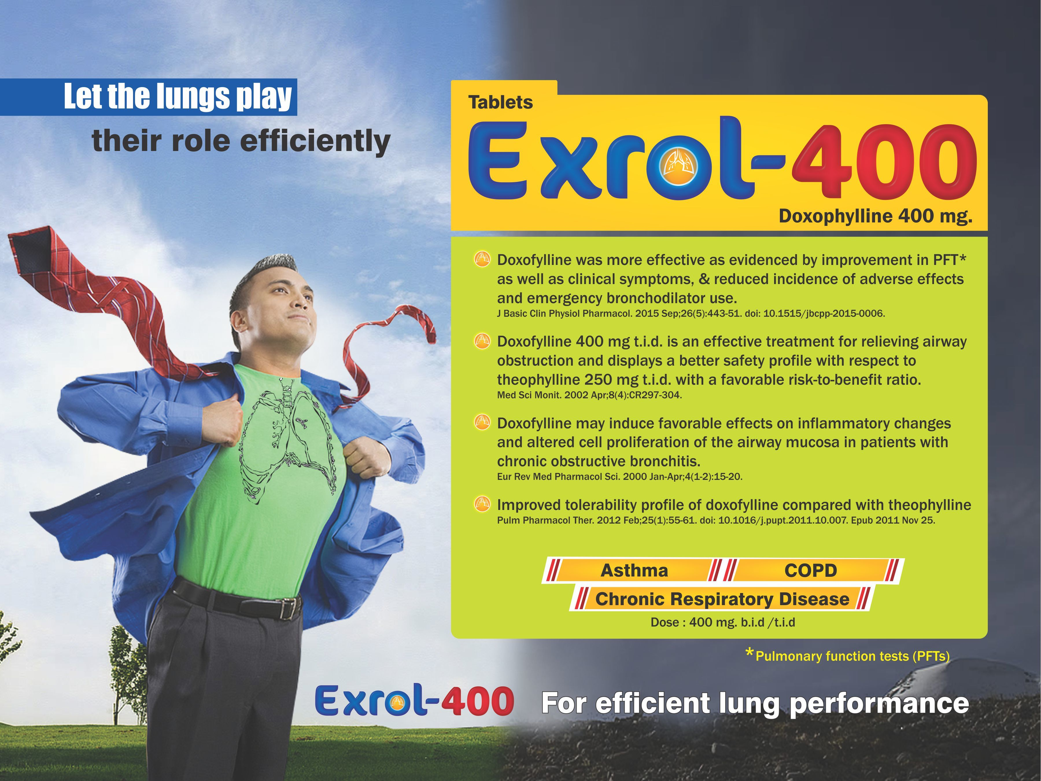 Doxofylline 400 Mg Tablets